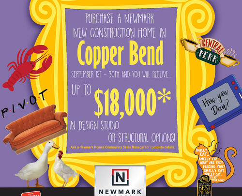 Newmark Homes Offers Copper Bend Buyers Fall Savings Incentive